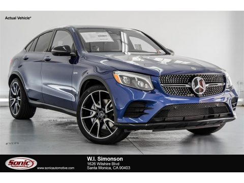 Brilliant Blue Metallic Mercedes-Benz GLC AMG 43 4Matic Coupe.  Click to enlarge.