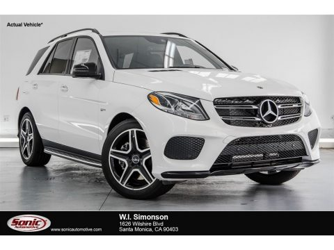 Polar White Mercedes-Benz GLE 43 AMG 4Matic.  Click to enlarge.