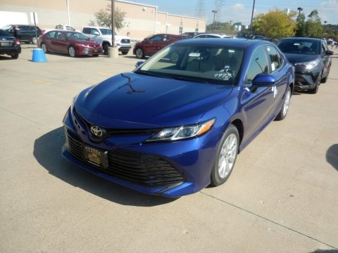Blue Crush Metallic Toyota Camry LE.  Click to enlarge.