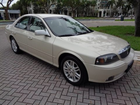 Ivory Parchment Metallic Lincoln LS V8.  Click to enlarge.