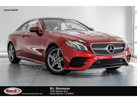 designo Cardinal Red Metallic Mercedes-Benz E 400 Coupe.  Click to enlarge.