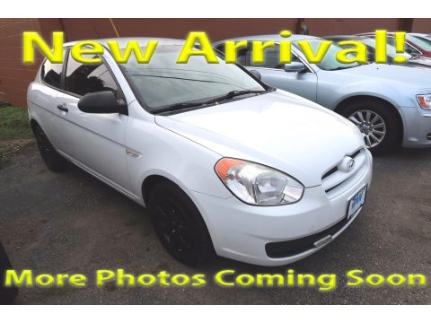 Nordic White Hyundai Accent GS Coupe.  Click to enlarge.