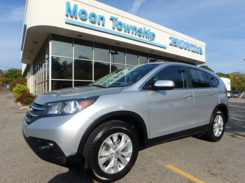 Alabaster Silver Metallic Honda CR-V EX AWD.  Click to enlarge.