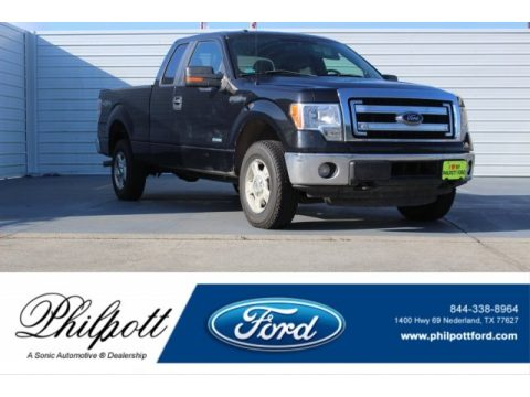 Tuxedo Black Ford F150 XLT SuperCab 4x4.  Click to enlarge.