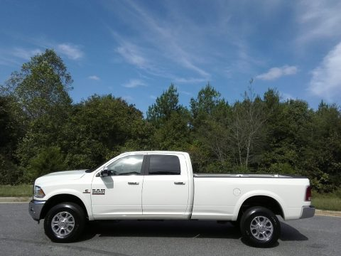 Pearl White Ram 2500 Laramie Crew Cab 4x4.  Click to enlarge.