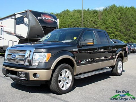 Tuxedo Black Metallic Ford F150 Lariat SuperCrew 4x4.  Click to enlarge.