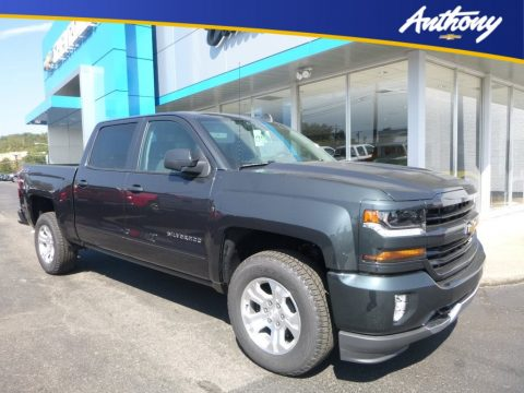 Graphite Metallic Chevrolet Silverado 1500 LT Crew Cab 4x4.  Click to enlarge.