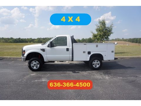 Oxford White Ford F250 Super Duty XL Regular Cab 4x4.  Click to enlarge.