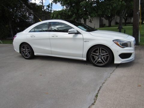 Cirrus White Mercedes-Benz CLA 45 AMG.  Click to enlarge.