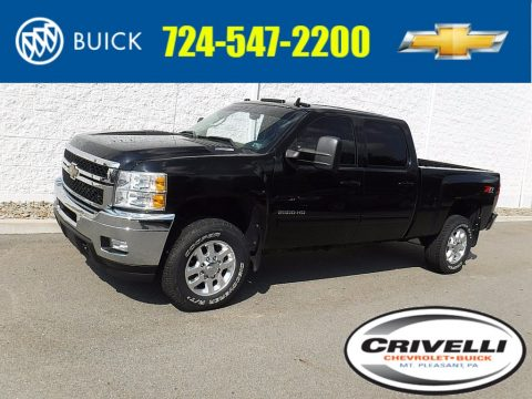 Black Chevrolet Silverado 2500HD LTZ Crew Cab 4x4.  Click to enlarge.