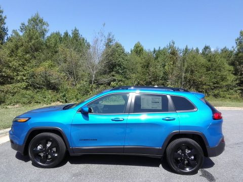 Hydro Blue Pearl Jeep Cherokee Latitude.  Click to enlarge.