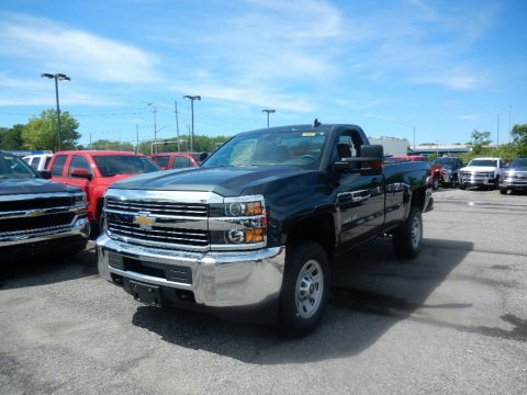 Graphite Metallic Chevrolet Silverado 2500HD Work Truck Regular Cab 4x4.  Click to enlarge.