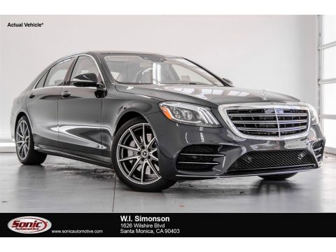 Anthracite Blue Metallic Mercedes-Benz S 450 4Matic Sedan.  Click to enlarge.