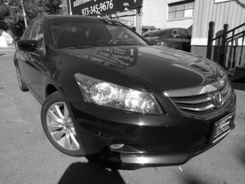 Crystal Black Pearl Honda Accord EX-L V6 Sedan.  Click to enlarge.