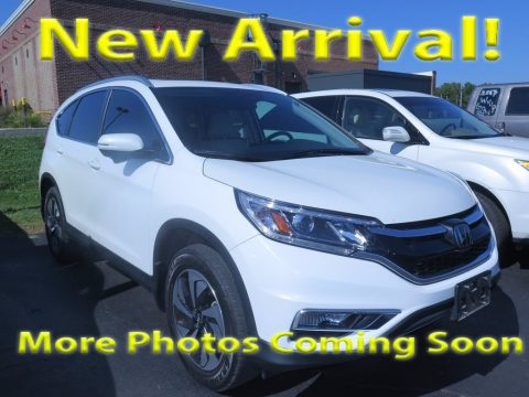 White Diamond Pearl Honda CR-V Touring.  Click to enlarge.