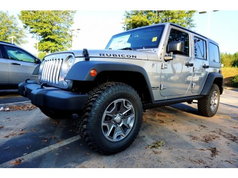 Billet Silver Metallic Jeep Wrangler Unlimited Rubicon 4x4.  Click to enlarge.