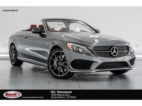 Selenite Grey Metallic Mercedes-Benz C 43 AMG 4Matic Cabriolet.  Click to enlarge.