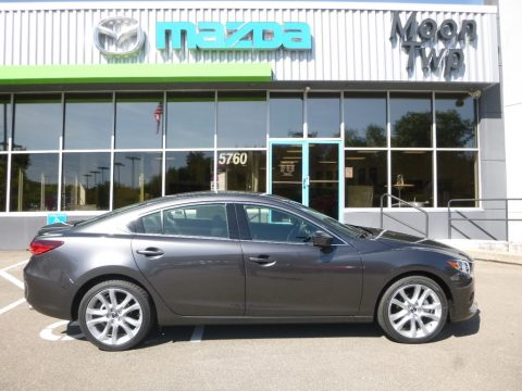 Machine Gray Metallic Mazda Mazda6 Touring.  Click to enlarge.
