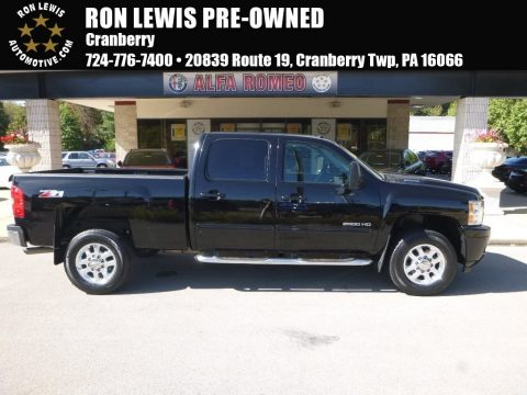 Black Chevrolet Silverado 2500HD LT Crew Cab 4x4.  Click to enlarge.