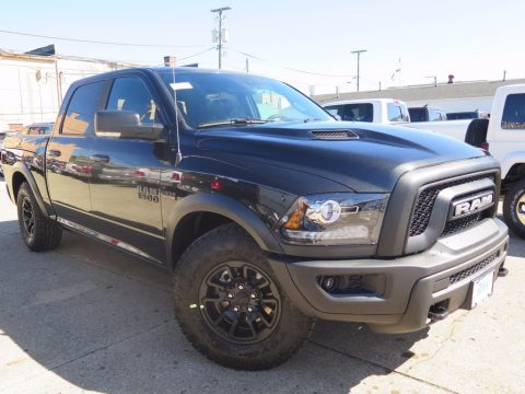 Brilliant Black Crystal Pearl Ram 1500 Rebel Crew Cab 4x4.  Click to enlarge.