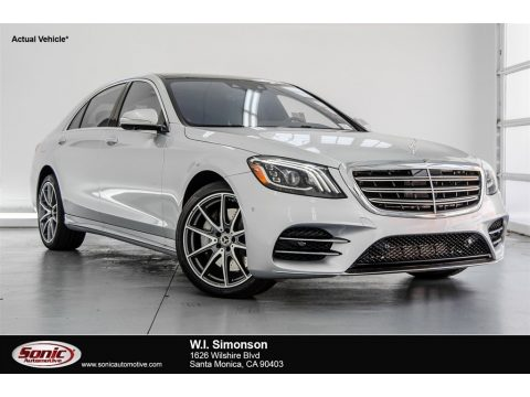 Iridium Silver Metallic Mercedes-Benz S 560 4Matic Sedan.  Click to enlarge.