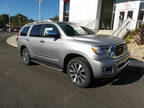 Silver Sky Metallic Toyota Sequoia Limited 4x4.  Click to enlarge.