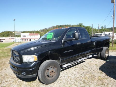 Black Dodge Ram 3500 ST Quad Cab 4x4 Dually.  Click to enlarge.