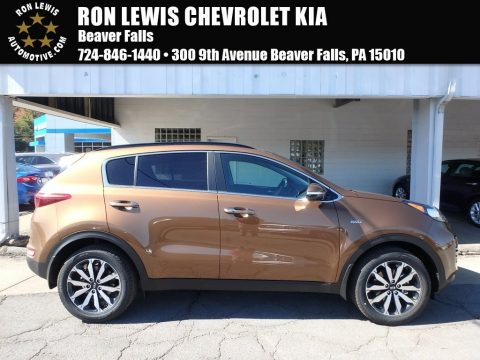 Burnished Copper Kia Sportage EX AWD.  Click to enlarge.
