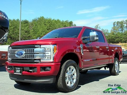 Ruby Red Ford F250 Super Duty King Ranch Crew Cab 4x4.  Click to enlarge.