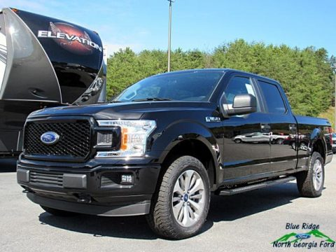 Shadow Black Ford F150 STX SuperCrew 4x4.  Click to enlarge.