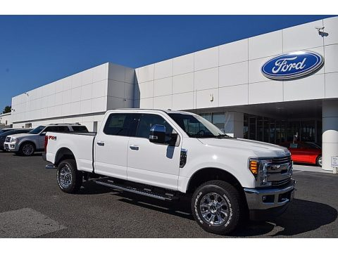 Oxford White Ford F250 Super Duty Lariat Crew Cab 4x4.  Click to enlarge.