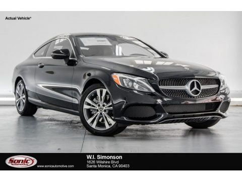 Black Mercedes-Benz C 300 Coupe.  Click to enlarge.