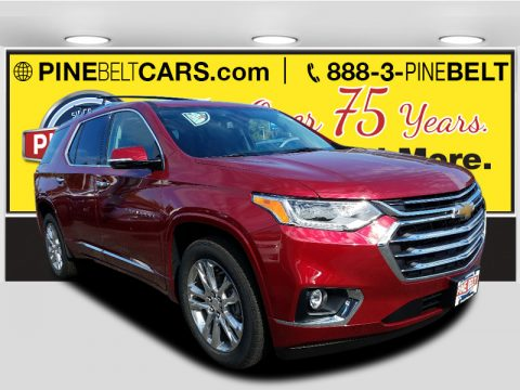 Cajun Red Tintcoat Chevrolet Traverse High Country AWD.  Click to enlarge.