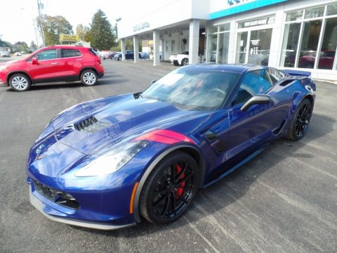 Admiral Blue Chevrolet Corvette Grand Sport Coupe.  Click to enlarge.