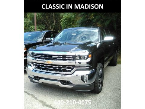 Graphite Metallic Chevrolet Silverado 1500 LTZ Crew Cab 4x4.  Click to enlarge.