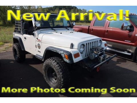 Stone White Jeep Wrangler SE 4x4.  Click to enlarge.