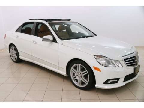 Arctic White Mercedes-Benz E 550 4Matic Sedan.  Click to enlarge.