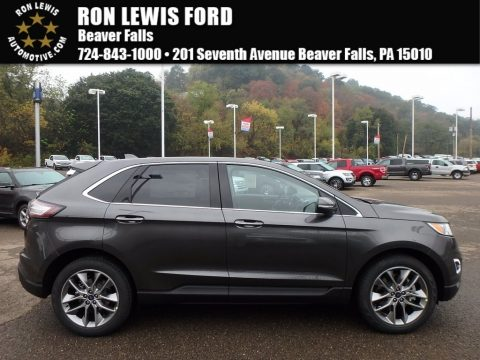 Magnetic Metallic Ford Edge Titanium AWD.  Click to enlarge.