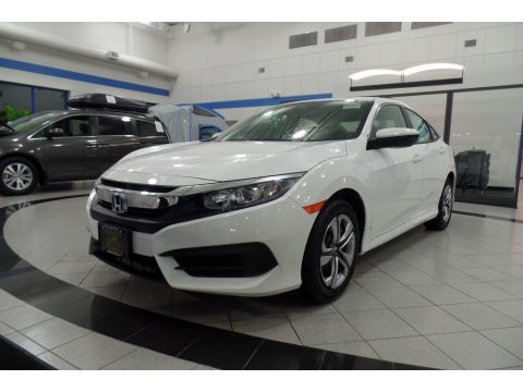 Taffeta White Honda Civic LX Sedan.  Click to enlarge.