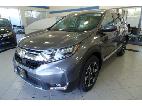 Modern Steel Metallic Honda CR-V Touring AWD.  Click to enlarge.