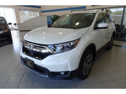 White Diamond Pearl Honda CR-V EX AWD.  Click to enlarge.