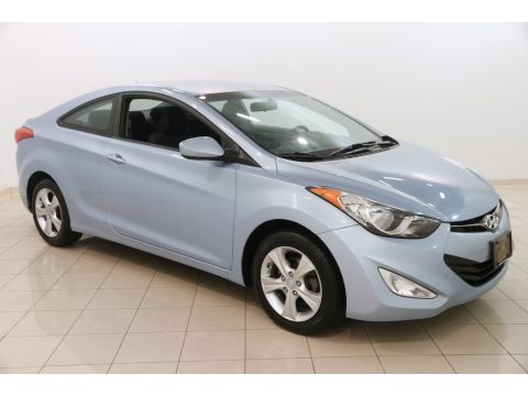 Blue Sky Metallic Hyundai Elantra Coupe GS.  Click to enlarge.