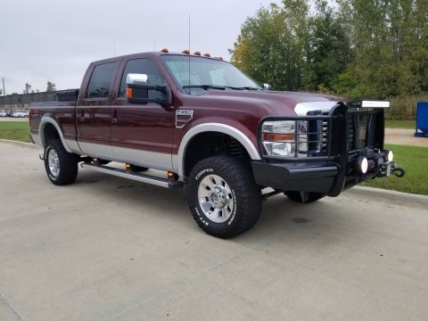 Royal Red Metallic Ford F350 Super Duty Lariat Crew Cab 4x4.  Click to enlarge.