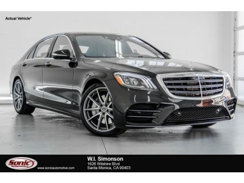 Black Mercedes-Benz S 450 4Matic Sedan.  Click to enlarge.