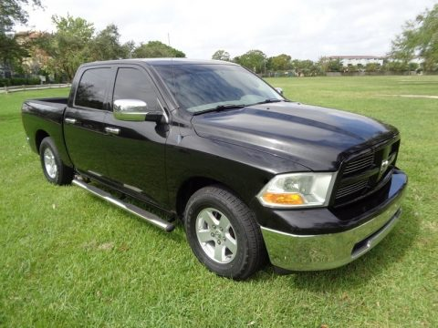 Brilliant Black Crystal Pearl Dodge Ram 1500 ST Crew Cab.  Click to enlarge.