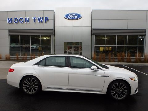 White Platinum Lincoln Continental Reserve AWD.  Click to enlarge.