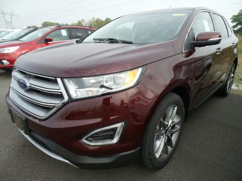Burgundy Velvet Metallic Ford Edge Titanium AWD.  Click to enlarge.