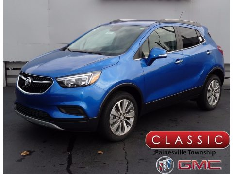 Coastal Blue Metallic Buick Encore Preferred AWD.  Click to enlarge.