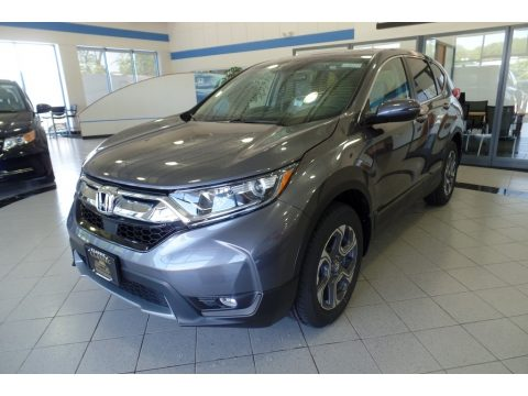 Modern Steel Metallic Honda CR-V EX AWD.  Click to enlarge.
