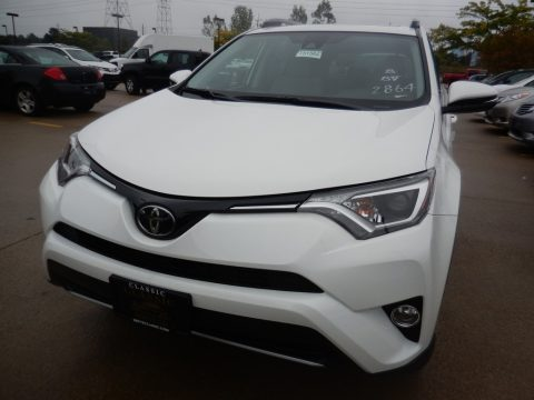 Super White Toyota RAV4 XLE AWD.  Click to enlarge.